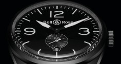 BELL & ROSS BR 123 Vintage Original Carbon
