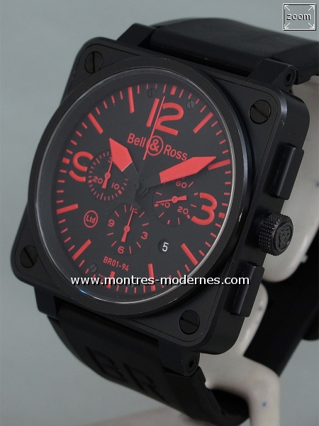 Bell&Ross BR 01-94-S Chrono Red Limited Edition 500ex. - Image 3